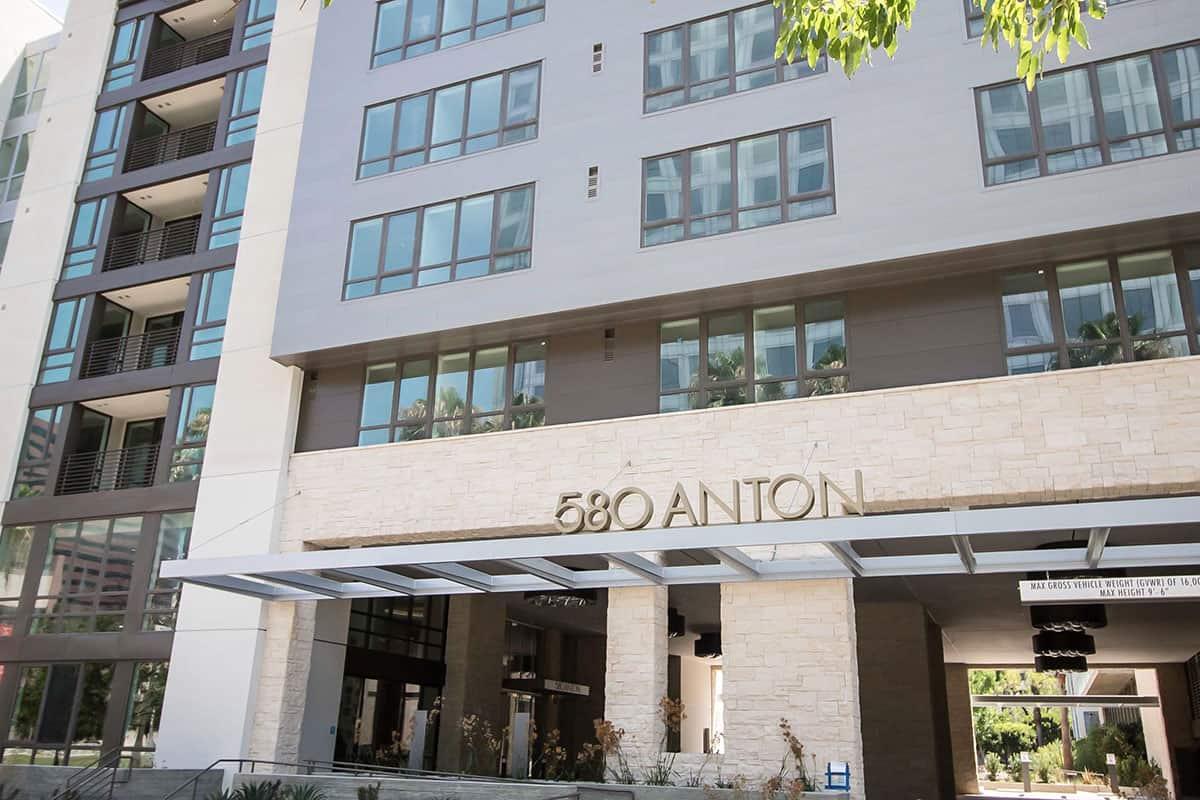 580 Anton Avenue of the Arts Entry